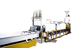 PLASTIC EXTRUSION-PELLETIZING MACHINE