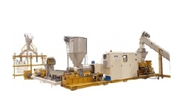 PLASTIC EXTRUSION-PELLETIZING LINE BY DIE FACE CUTTING