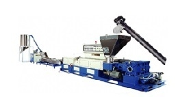 EXTRUSION-PELLETIZING LINE BY SPAGHETTI CUTTING