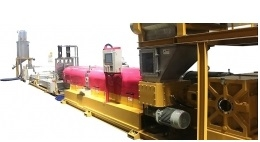 MATERIAL NO BREAK EXTRUSION PELLETIZING LINE BY SPAGHETTI CUTTING SERIES