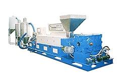 PVC EXTRUSION-PELLETIZING MACHINE