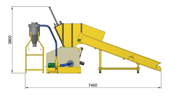 PET Bottle Crusher Demension