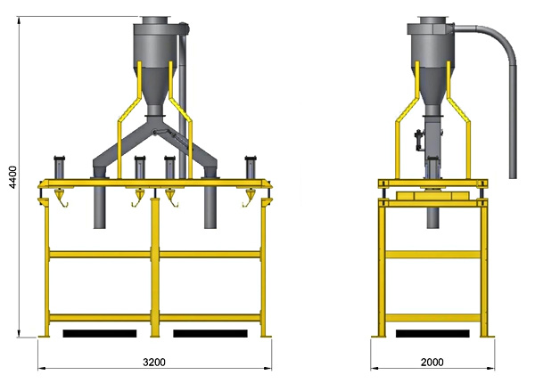 Jumbo bag packing equipment