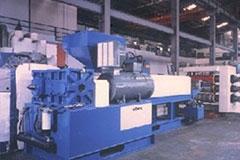 VERTICAL TYPE CALENDAR ROLLER SHEET EXTRUSION MACHINE